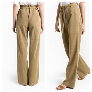 A.L.C. NWT Green Carver Belted Wide Leg Pants sz0